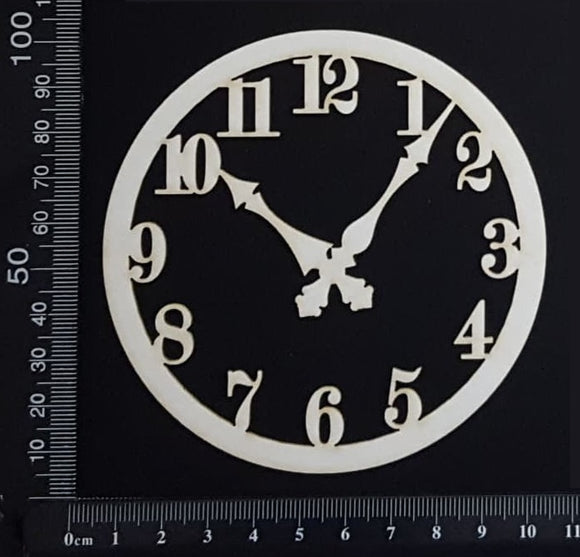 Clock Face - AA - Small - White Chipboard