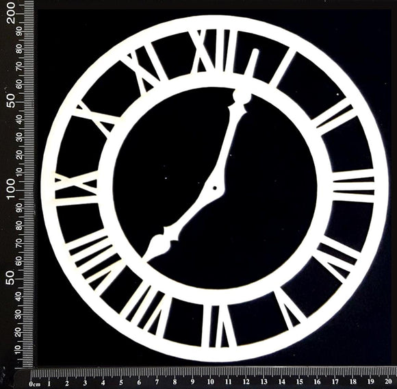 Clock Face - BC - Large - White Chipboard