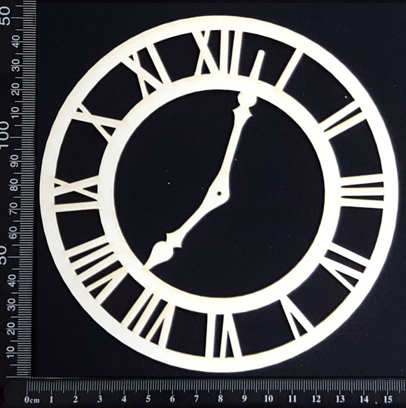 Clock Face - BB - Medium - White Chipboard