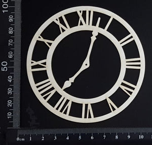 Clock Face - B - Small - White Chipboard
