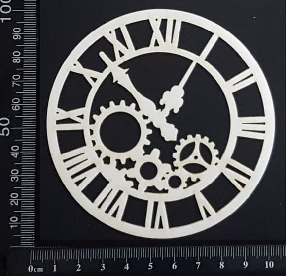 Clockwork Clock - CA - Small - White Chipboard