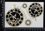Clockwork Penny Farthings Set - White Chipboard