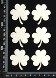 Clovers Set - White Chipboard
