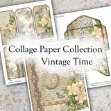 Collage Paper Collection - Vintage Time - DI-10098 - Digital Download