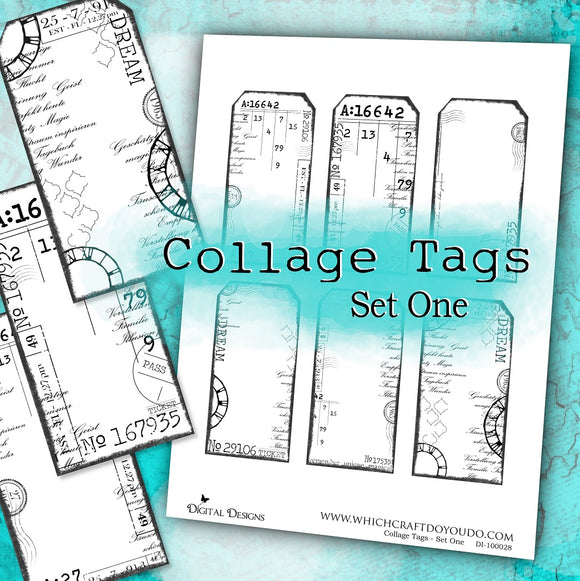 Collage Tags - Set One - DI-10028 - Digital Download