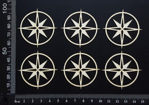 Compass Set - C - Small - White Chipboard