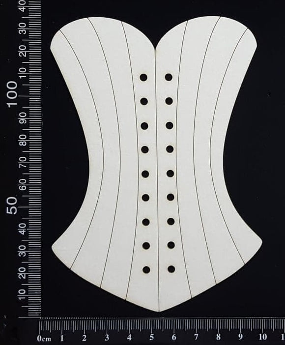 Corset - A - Large - White Chipboard