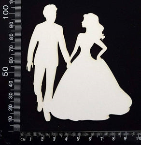 Dance Couple - B - White Chipboard