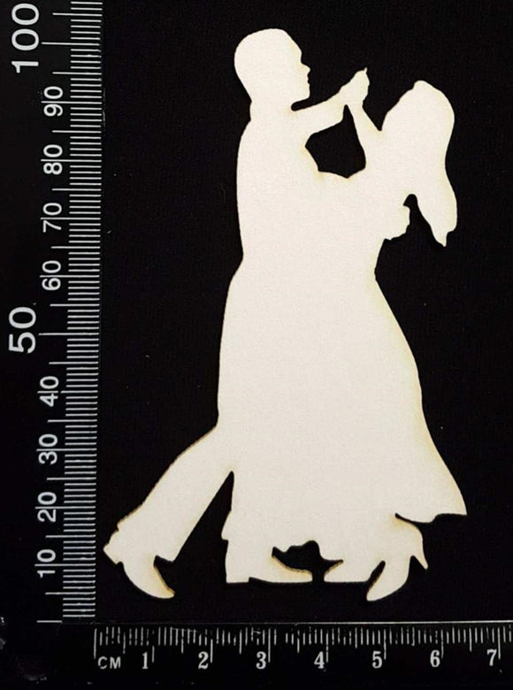 Dance Couple - D - White Chipboard