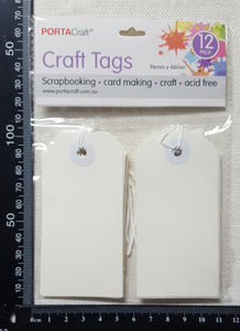 Craft Tags - Cream - Pack of 12