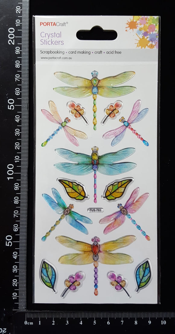 Crystal Stickers - Dragonflies