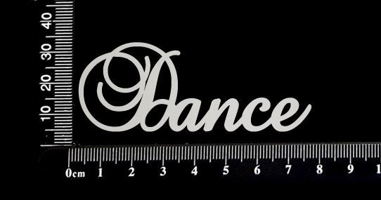Elegant Word - Dance - White Chipboard