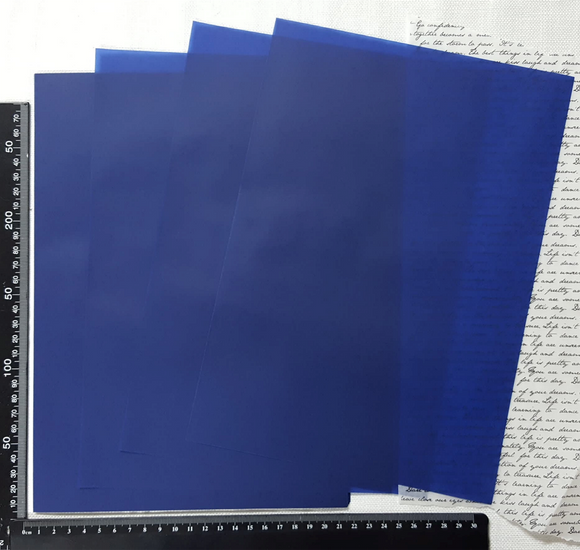 Parchment/Vellum Paper - A4 pack of 25 sheets - Dark Blue