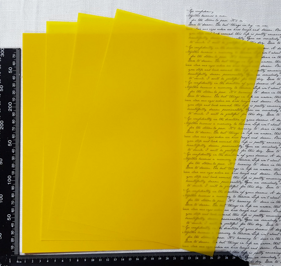 Parchment/Vellum Paper - A4 pack of 25 sheets - Dark Yellow