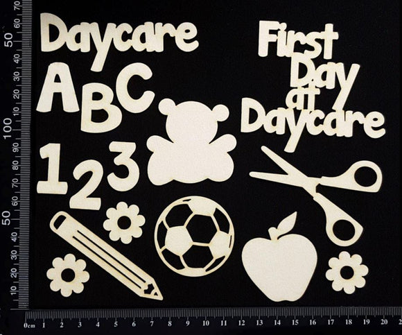 Daycare Elements Set - White Chipboard