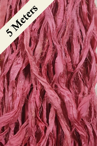 Reclaimed Sari Silk Ribbon - Desert Rose - 5m Pack