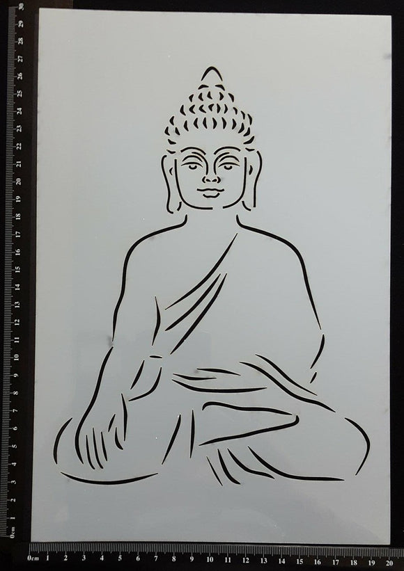 Detailed Buddha - Stencil - 200mm x 300mm