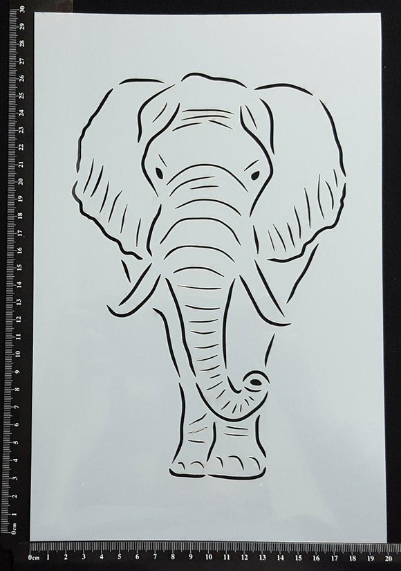 Detailed Elephant - Stencil - 200mm x 300mm
