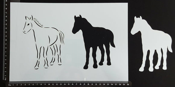 Detailed Foal - Stencil - 200mm x 300mm