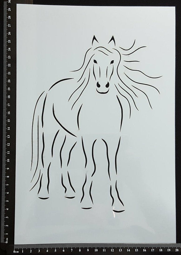 Detailed Horse - Stencil - 200mm x 300mm