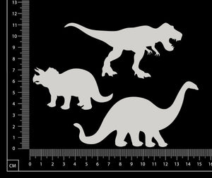 Dinosaurs - White Chipboard