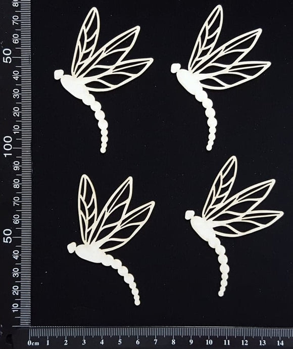 Dragonfly Set - EA - White Chipboard