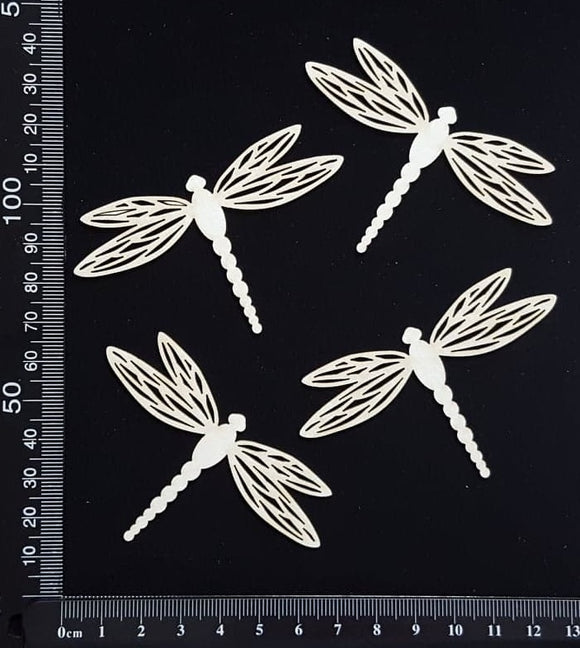 Dragonfly Set - EC - White Chipboard