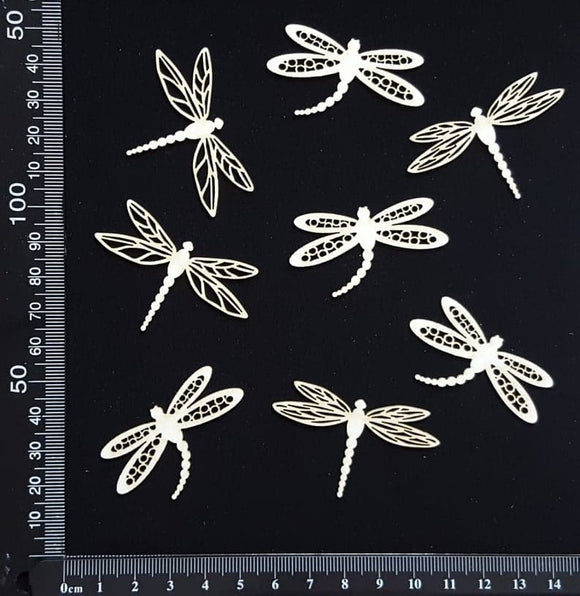 Dragonfly Set - EE - White Chipboard