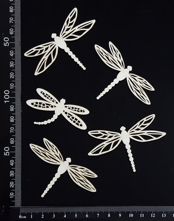 Dragonfly Set - EF - White Chipboard