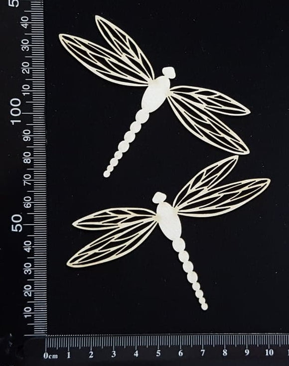 Dragonfly Set - FA - White Chipboard