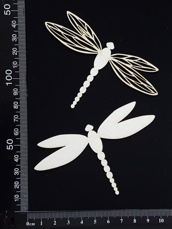 Dragonfly Set - FB - White Chipboard