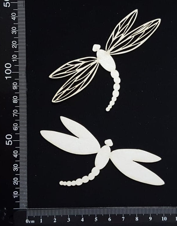 Dragonfly Set - FD - White Chipboard