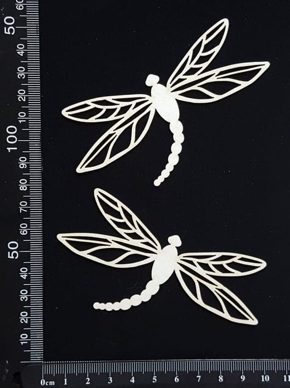 Dragonfly Set - FE - White Chipboard