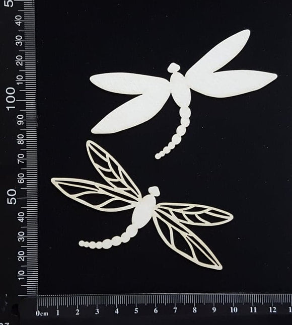 Dragonfly Set - FF - White Chipboard
