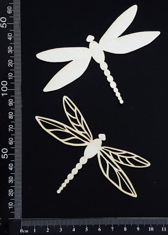 Dragonfly Set - FH - White Chipboard