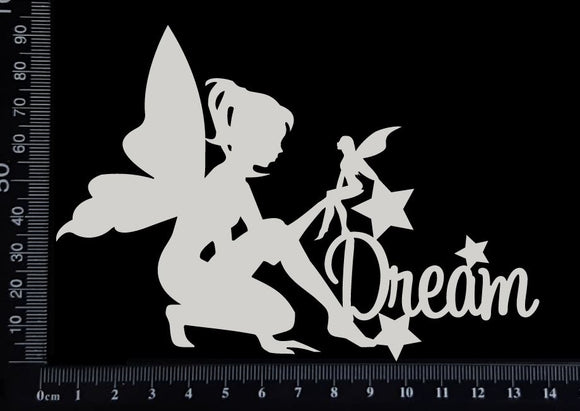 Fairy Title - Dream - A - White Chipboard