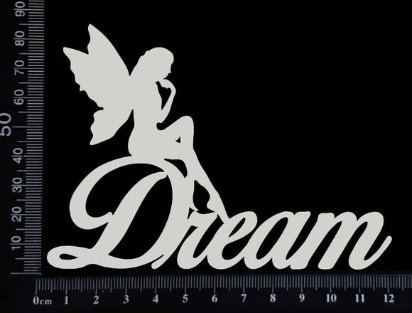 Fairy Title - Dream - C - White Chipboard