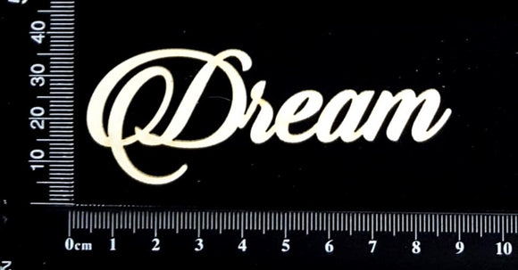 Sandscript Word - Dream - White Chipboard