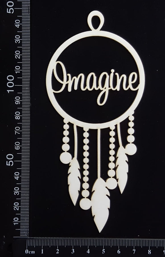 Dreamcatcher - Imagine - White Chipboard