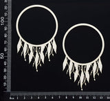 Dreamcatcher Frames - B - Small - Set of 2 - White Chipboard