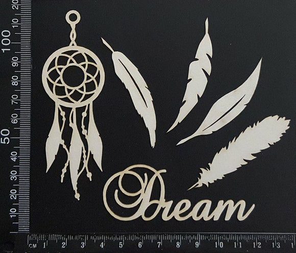 Dreamcatcher Set - White Chipboard