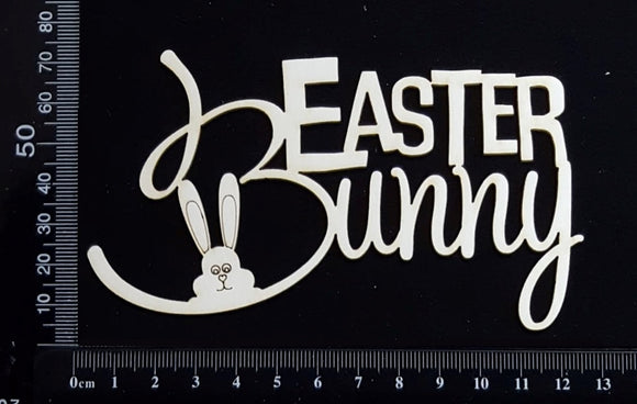 Easter Bunny - B - White Chipboard