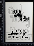 Easter Words Set - B - White Chipboard
