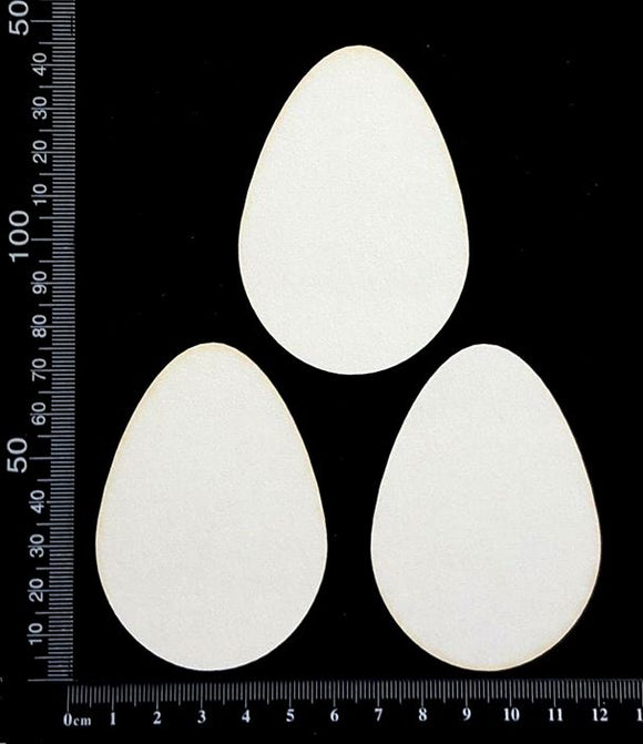 Easter Eggs - B - Medium - White Chipboard