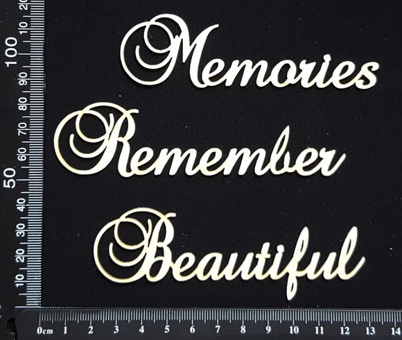 Elegant Word Set - Mixed Set D - White Chipboard