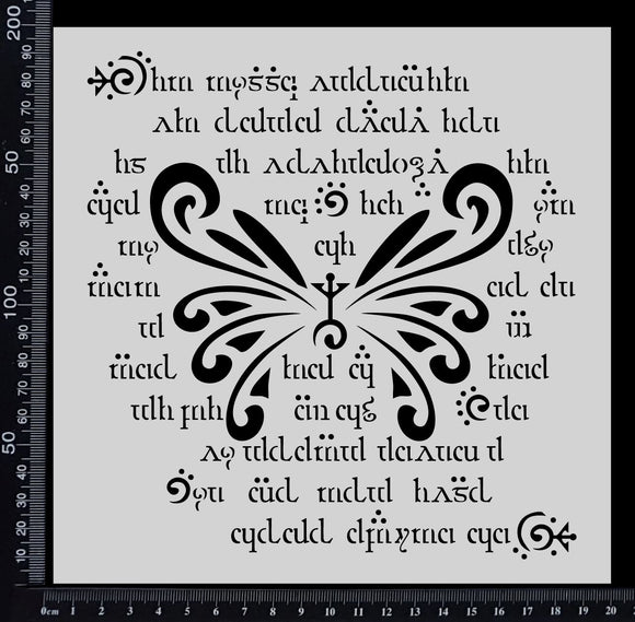 Elvish Wings - Stencil - 200mm x 200mm