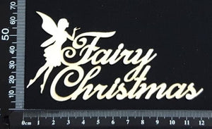 Fairy Christmas - A - White Chipboard