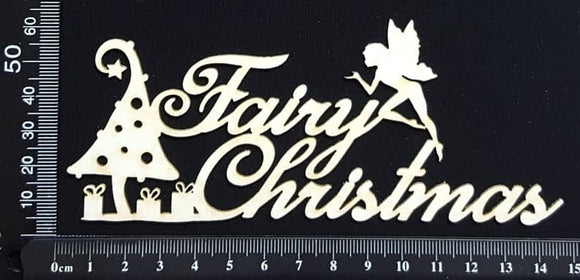 Fairy Christmas - B - White Chipboard