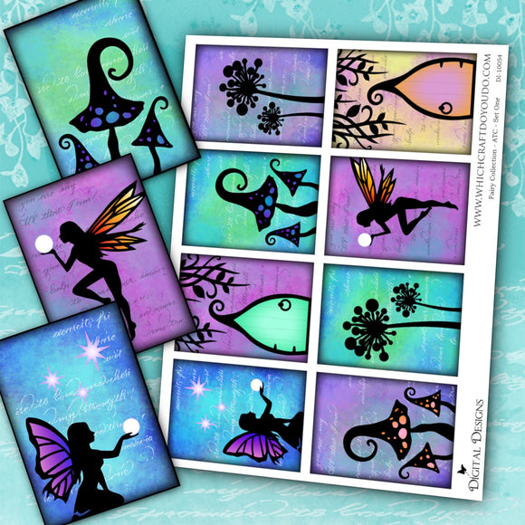Fairy Collection - ATC - Set One - DI-10054 - Digital Download
