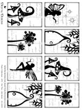 Fairy Collection - ATC - Set Two - Ink Saver - DI-10055 - Digital Download